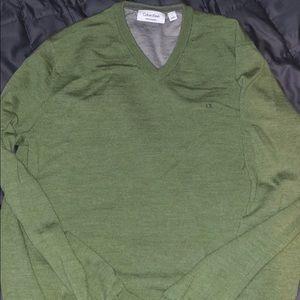 Calvin Klein Merino Sweater V-Neck Size L